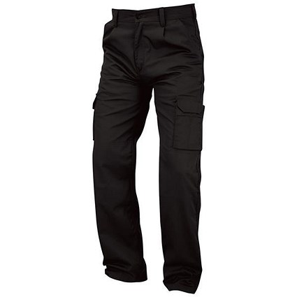 Kneepad Combat Trousers / Waist: 44in, Leg: 29in / Black