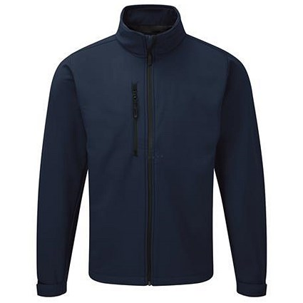 Soft Shell Jacket / Water Resistant / Breathable / XXL / Navy