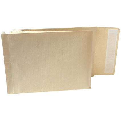 New Guardian Armour C4 Gusset Envelopes, 50mm Gusset, Peel & Seal, Manilla, Pack of 100