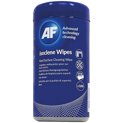 AF Isoclene Bactericidal Wipes Tub (Pack of 100)