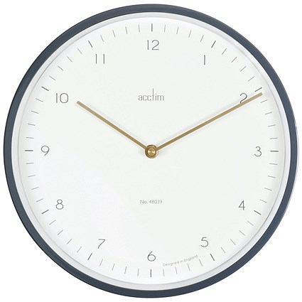 Acctim Bronx 30cm Wall Clock Grey