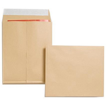 New Guardian Heavyweight Gusset Envelopes, 305x250mm, 25mm Gusset, 130gsm, Peel & Seal, Manilla, Pack of 100