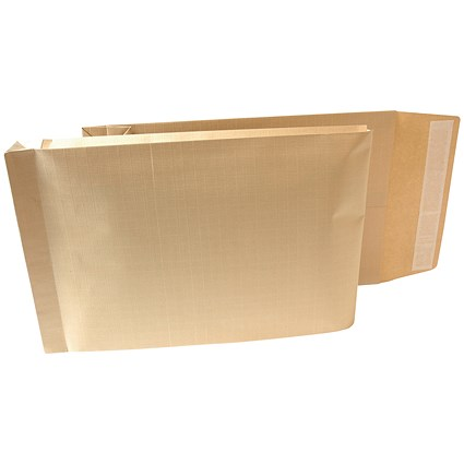 New Guardian Armour Gusset Envelopes, 470x300mm, 70mm Gusset, Peel & Seal, Manilla, Pack of 100