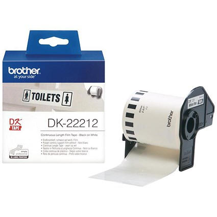 Brother Label Continuous Film, 62mmx15.24m, White, Ref DK22212