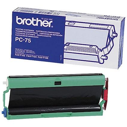 Brother PC75 Black Ribbon Cassette Cartridge