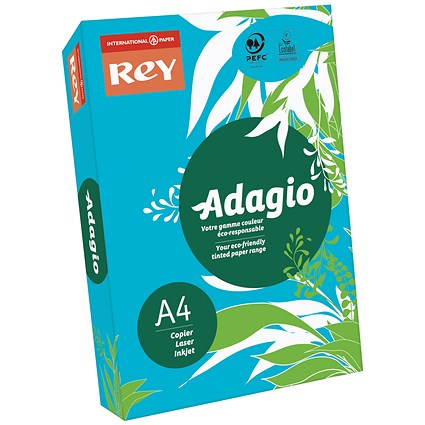 Adagio Coloured Card - Intense Blue, A4, 160gsm, Ream (250 Sheets)