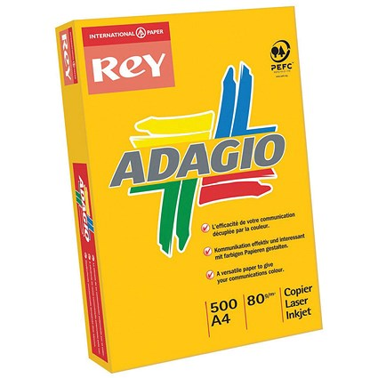 Adagio A4 Bright Assorted Coloured Card 160gsm - Pack of 250