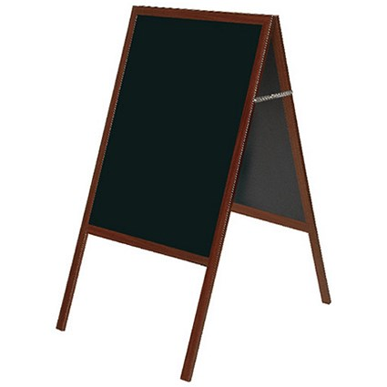 Bi-Office A-Frame Chalkboard / W600 x H1200mm / Cherry