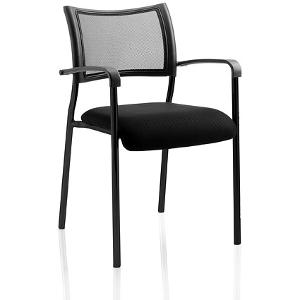 Brunswick Visitor Chair, With Arms, Black
