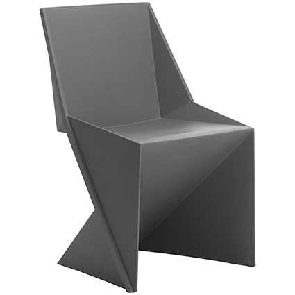 Freedom Polypropylene Visitor Stacking Chair - Charcoal
