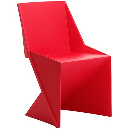 Freedom Polypropylene Visitor Stacking Chair - Red