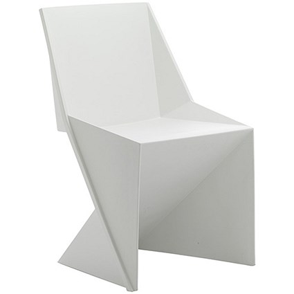 Freedom Polypropylene Visitor Stacking Chair - White