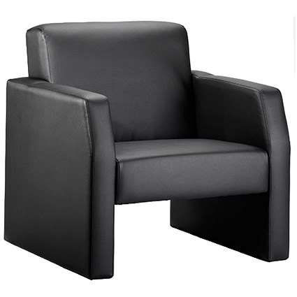 Oracle Single Seat Leather Chair - Black