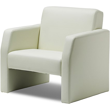 Oracle Single Seat Leather Chair - Ivory