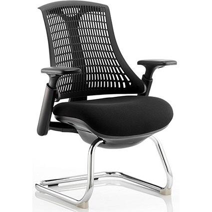 Flex Visitor Chair / Black Frame / Black Seat / Black Back