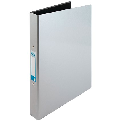 Elba Ring Binder, A4+, 2 O-Ring, Gloss Finish, 25mm Capacity, Silver