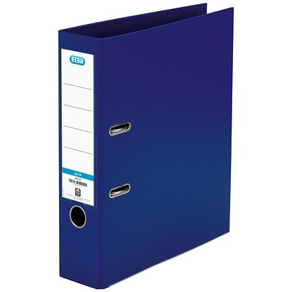 Elba 70mm Lever Arch File Plastic A4 Blue