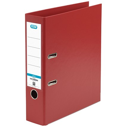 Elba 70mm Lever Arch File Plastic A4 Red