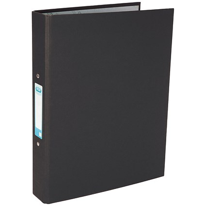 Elba A4 Black 25mm Paper Over Board Ring Binder (Pack of 10)