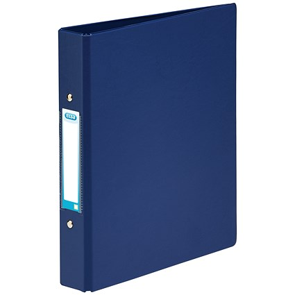 Elba Ring Binder, A5, 2 O-Ring, 25mm Capacity, Blue, Pack of 10