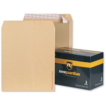 New Guardian Board-backed Envelopes / 444x368mm / Peel & Seal / Manilla / Pack of 50