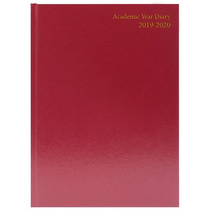 Collins 2020 A5 Diary, Week to View, Red