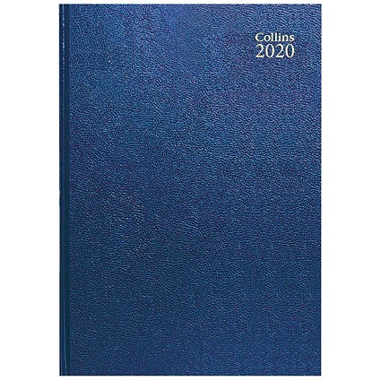 Collins 2020 A4 Diary, Week to View, Blue