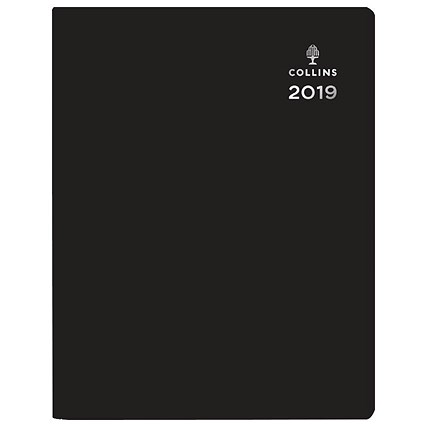 Collins Leadership 2020 A4 Diary, Day Per Page Appointment - Black