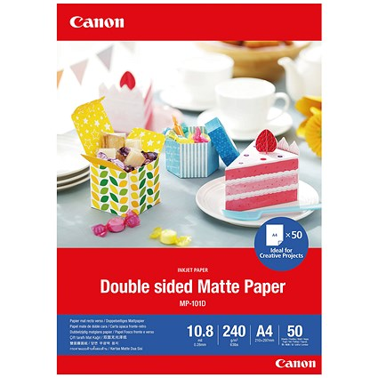 Canon Double-Sided Matte Photo Paper A4 50 Sheets 4076C005