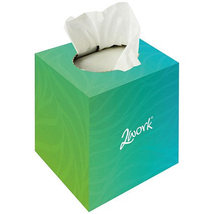 2Work Facial Tissues Cube 70 Sheets (Pack 24)