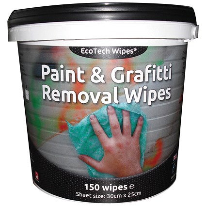 EcoTech Paint and Graffiti Wipes (Pack of 150)