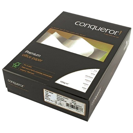 Conqueror A4 Prestige Laid Finish Paper, High White, 100gsm, Ream (500 Sheets)