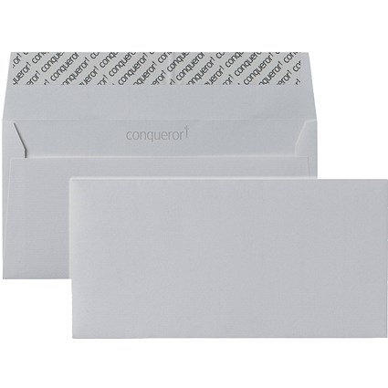 Conqueror DL Envelopes, Laid, High White, 120gsm, Pack of 500