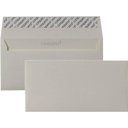 Conqueror DL Envelopes, Wove, Cream, 120gsm, Pack of 500