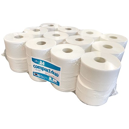 2-Ply Micro Jumbo Toilet Roll 80m (Pack of 24) JWH201