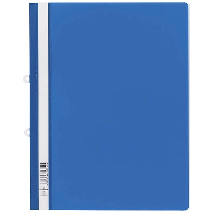 Durable A4 Clear View Folders / Blue / Pack of 25