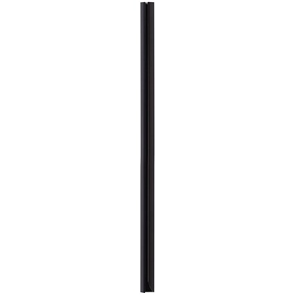Durable Spinebar, 12mm, Up to 100 A4 Sheets, Black, Pack of 25