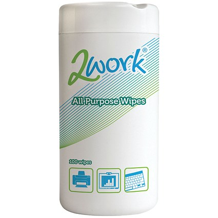 2Work All Purpose Wipes (Tub of 100)