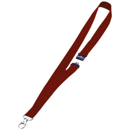 Durable Necklace with Safety Closure, Wide Width, 440mm, Red, Pack of 10