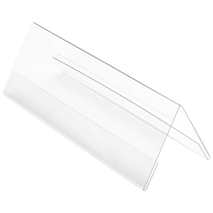 Deflecto Tent Sign Holder / 96x297mm / Clear