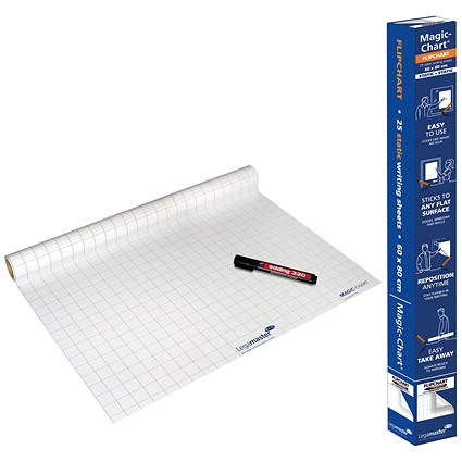 Legamaster Magic Chart Gridded Roll White 600x800mm