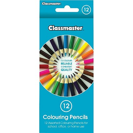 Classmaster Colouring Pencils, Assorted, Pack of 12