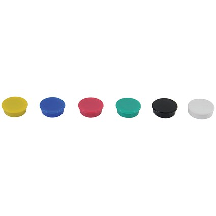 Show-me Round Magnets 24mm Assorted (Pack of 6)