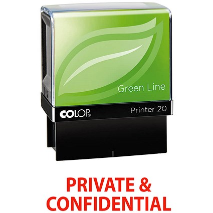 COLOP Green Line Word Stamp PRIVATE & CONFIDENTIAL Red