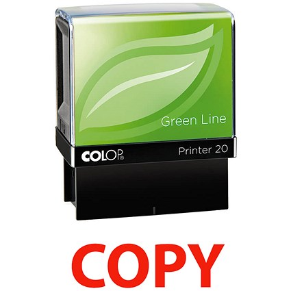 COLOP Green Line Word Stamp COPY Red GLP20COPY