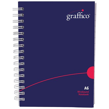 Graffico Polypropylene Wirebound Notebook 140 Pages A6