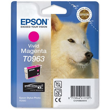 Epson T0963 Vivid Magenta UltraChrome K3 Inkjet Cartridge
