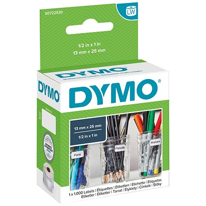 Dymo LabelWriter Labels Multipurpose White 13x25mm Ref 11353 S0722530 [Pack 1000]