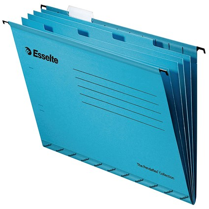 Esselte Classic Suspension File Dividers, Foolscap, Blue, Pack of 10