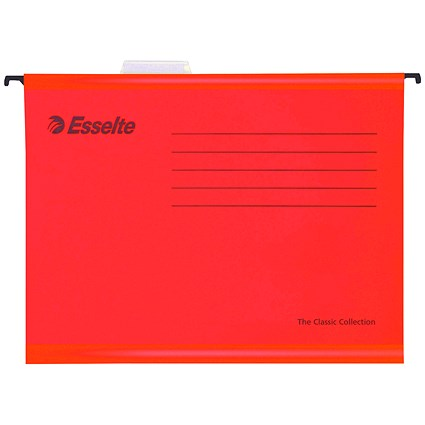 Esselte Classic Suspension Files / A4 / Red / Pack of 25